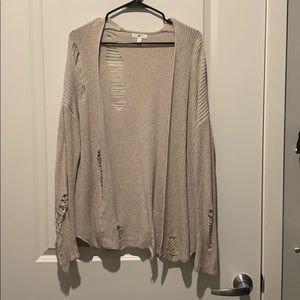 BP distressed cream cardigan size small
